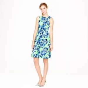 NWOT JCREW Blue and Green Floral Dress